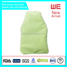 Microwave activated hot Water bottle thermal bag with plush cover