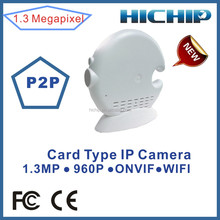 Hichip Low cost 960P Wireless Mini Camera P2P support 32GB TF Card, Onvif protocol