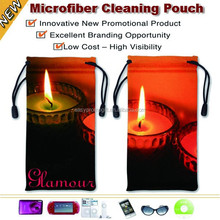 Promotional microfiber cell phone pouch