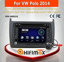 HIFIMAX 2 din touch screen vw polo car audio player car stereo auto radio car multimedia with DVD GPS navigation radio BT