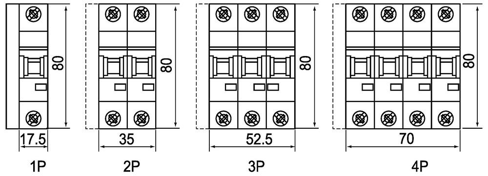 10ka mini circuit breaker l7 din rail ac pv dc 1p dpn 2p 3p tpn 4p 1a 2a 3a 4a 6a 10a 16a 20a
