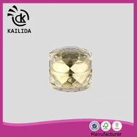 China Manufacturer golden cap special shape 15ml acrylic cosmetic bottle