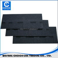 Chinese red color round shape fiberglass roofing felt/asphalt shingle