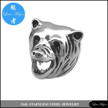 firce bear casting stainless steel ring of fashion jewelry for biker