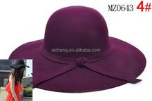 Fashion wool felt women hat with big brim