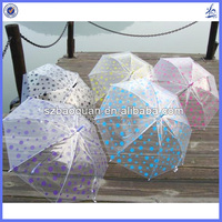 polka dot umbrella plastic cover/transparent plastic umbrella