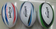 Cinco pelotas de rugby promocionales en PVC de tamaño estándar