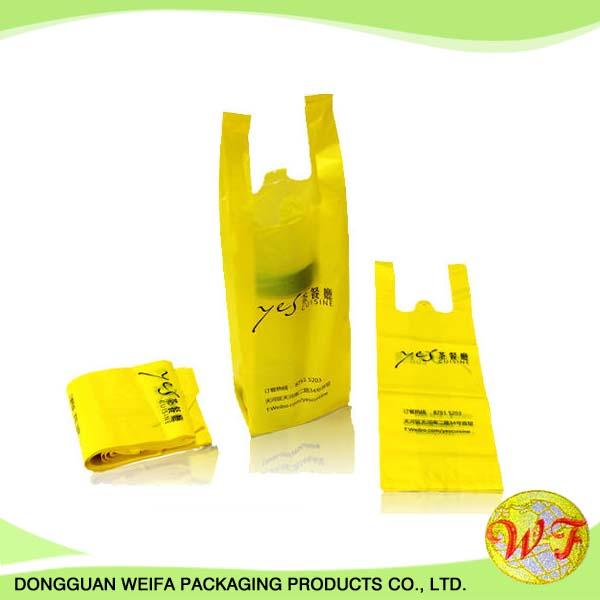 أنواع مختلفة من الجملة الرخيصة دائم سوبر ماركت للتسوق أكياس البلاستيك التي شيرت مع الطباعة