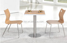Commercial used square MDF dining table for 2 (FOH-BC05)