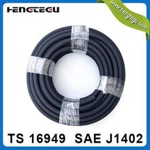 china high quality iso certificate sae j1402 3/8 inch epdm flexible black trailer air brake hose