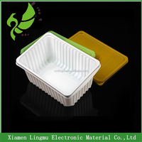 2015 new style plastic food lunch packaging box with one compartment