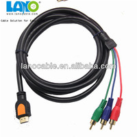 Low price 1.4V micro hdmi to 3rca male cable with ROHS certified length optical