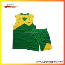 digital print exercise clothing unsex uniforms basketball clothing