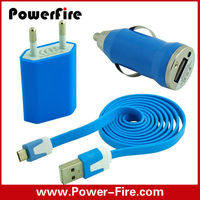 Multiple 3 in 1 USB data cable car charger and wall charger