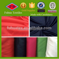polyester pongee fabric dyed interlining fabric for making down jacket