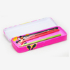 rectangular color pencil tin box for stationery
