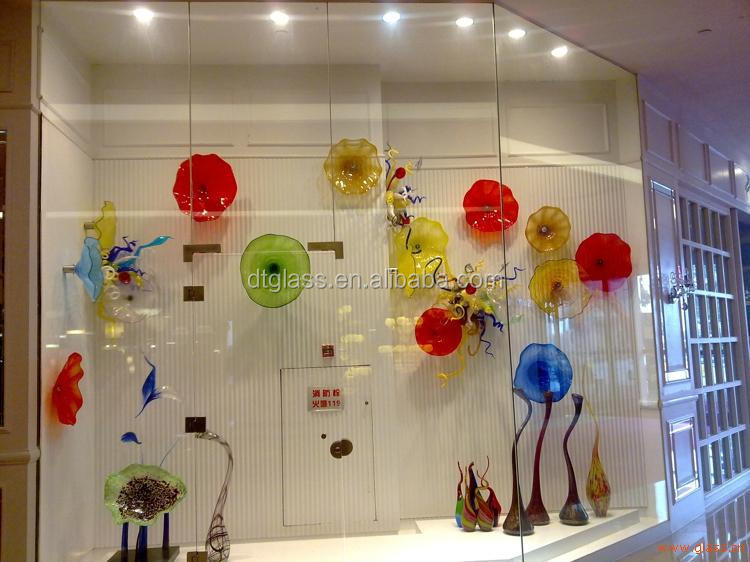 Murano Hand Blown Glass Plates For Wall Art Decoration