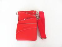 Leather Barber Scissor Hairdressing Holster Pouch Holder Case Rivet Clips Bag with Waist Shoulder Belt