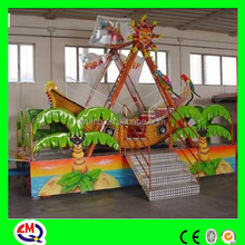 children playground equipment mini pirate ship with LED lights ISO9001, BV approval hot sale