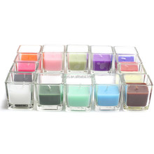 China factory Sodalime glass square normal popular mini candle holder cup