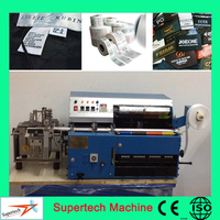 High Speed Auto Desktop Four Colors Clothes Label Printing Machine With Cutting