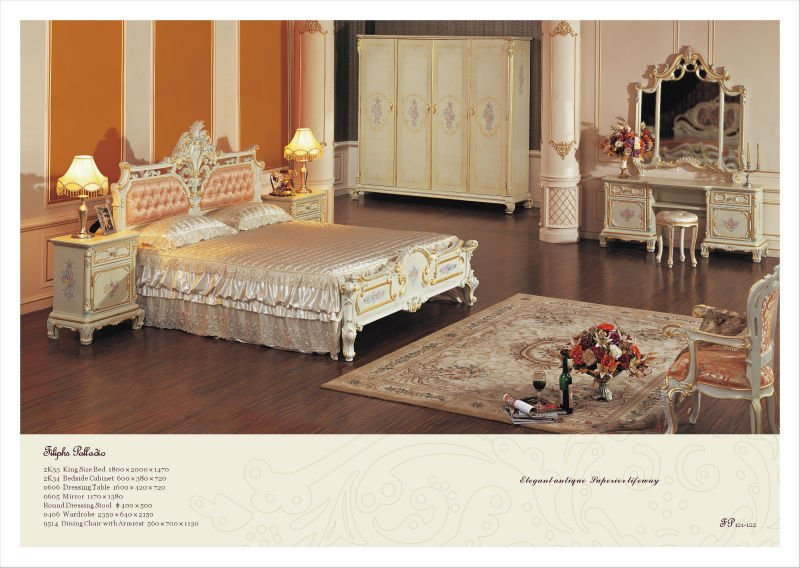 Italian style bedroom furniture antique reproduction bed furniture Tuscan style bedroom furniture