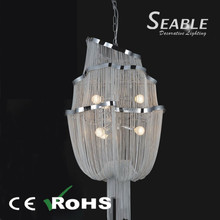 Large hall modern fabric E27 chandelier lights