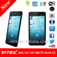 """4.5"""" Quad Core IPS QHD Panel Android Smart Phone with WI FI"""
