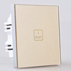 1 gang 1 way touch switch golden retancle smart switch