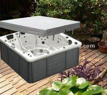 Bath tub spa bath with led light and TV for sex massage