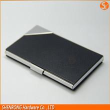 engraving metal business card holder/aluminum name card case /black metal business id card case