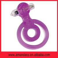 PMD002 Dual Rings Vibe - Tongue Style Sex Products, Sex Rings for Men, Silicone Cock Rings of Sex Products