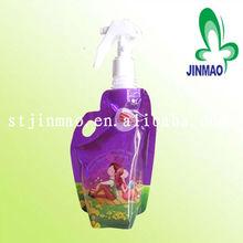 Liquid Detergent pouches with spout