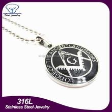 Dongguan Sini stainless steel jewelry manufacturers professional custom masonic logo pendant
