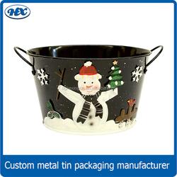 Christmas gift beer ice bucket for food galvanized ice bucket