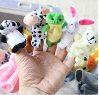 Online wholesale Plush toy finger puppets with different animals MOQ 100pcs mix color mix style