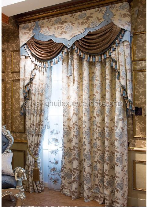 tecido jacquard para a cortina e cortinas de luxo amplamente usado em casa e casa de