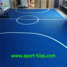 suspended modular basketball court floor