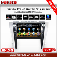 2 DIN 9inch HD screen car dvd Player For Toyota CAMRY 2015 with GPS BT ipod TV video car radio stereo