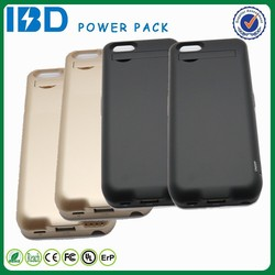 For iphone S6 4.7 IBD high quality 5000mAh usb power bank and power case with LED indicator lights and holder for watching TV