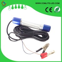 8W submersible 12V white and green squid LED underwater fishing light
