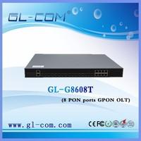 1U 8PON ports GEPON GPON OLT FTTH OLT Network equipment