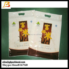 Moisture proof handle top nylon plastic laminated packaging bag for rice