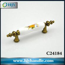 Furniture hardware accessory fancy zinc porcelain door handles