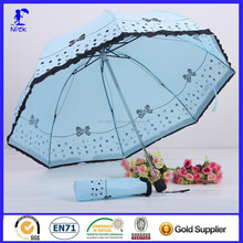 Lady Straight Polyester Parasol Umbrella