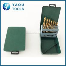 new metal index box packing HSS drill bits set