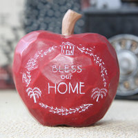 Customize 3D red apple home decor, resin apple figurine craft china supplier