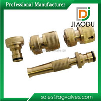 4 PC Brass Hose Pipe Quick Connector Set New Garden Tap Fitting Spray Nozzle