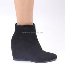 Womens Wedge Ankle Booties Black