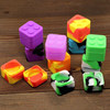 Square ice cube shaped customized wax oil silicone container silicone dab jar stackable bho container